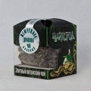 """""""Жасминовая жемчужина дракона"""" Чай китайский зеленый скрученный с жасмином"""