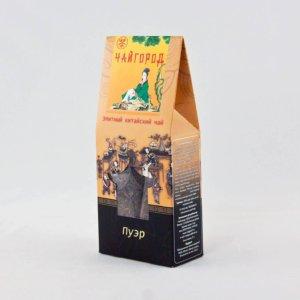 """""""Пуэр"""" Чай китайский черный байховый пуэр в картонной упаковке"""