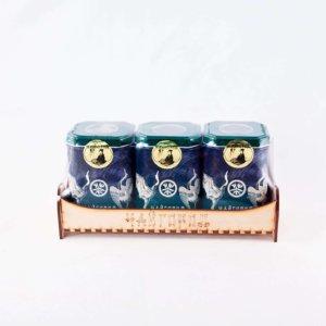 """""""Лавочка"""" подарочный набор с черным и зеленым чаем в железных банках"""