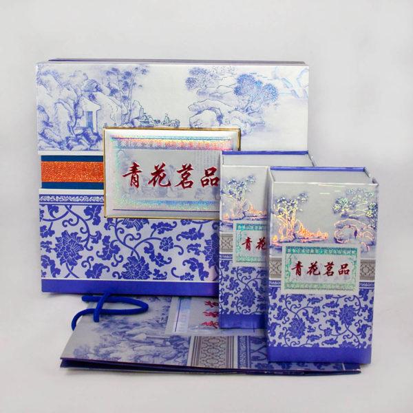 """""""Вечер в зимнем саду"""" Подарочный набор с китайским черным байховым чаем и фарфоровой чашкой"""
