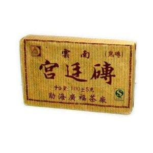 Китайский черный прессованный пуэр 100 г СТД17ad013 брикет