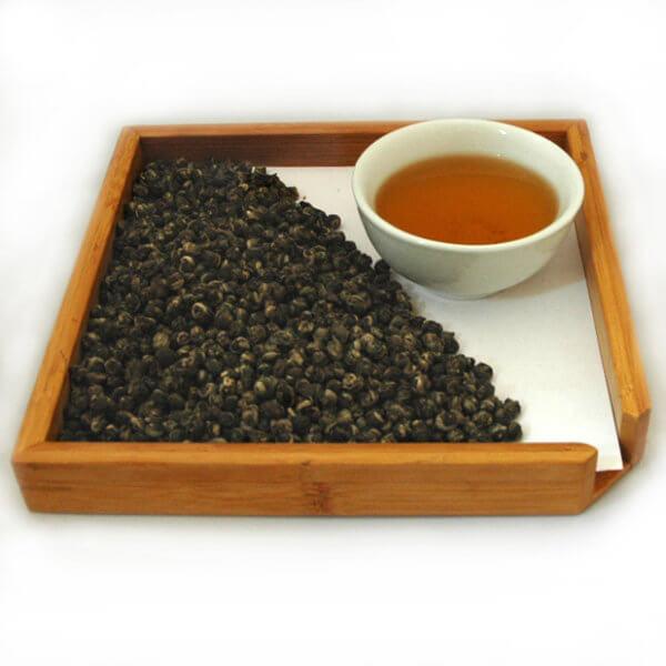 """""""Зеленая жемчужина дракона"""" Чай китайский зеленый скрученный"""