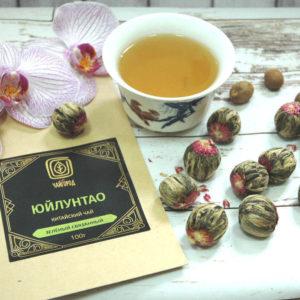 """""""Юйлунтао"""" Чай зеленый связанный в шарики с цветами хризантемы"""