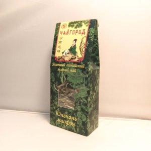 """""""Юньнань маофэн"""" чай китайский зеленый байховый крупнолистовой в картонной упаковке"""