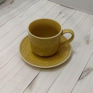 """Чашка с блюдцем 0,3л (желтая) """"Ambiente"""""""