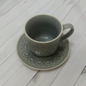 """Чашка с блюдцем 0,3л (серая) """"Ambiente"""""""